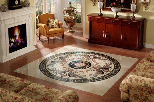 Мозаика из керамогранита в интерьере.