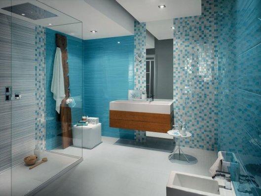 Сочетание текстур и графических форм в настенной плитке Fap для стен и пола