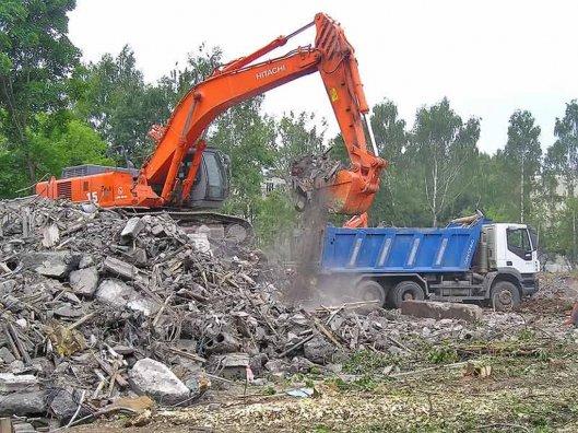 Вывоз строительного мусора со стройплощадки