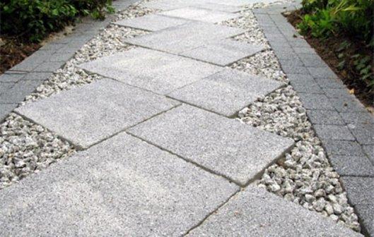 Гранитные плиты и мощение тротуаров