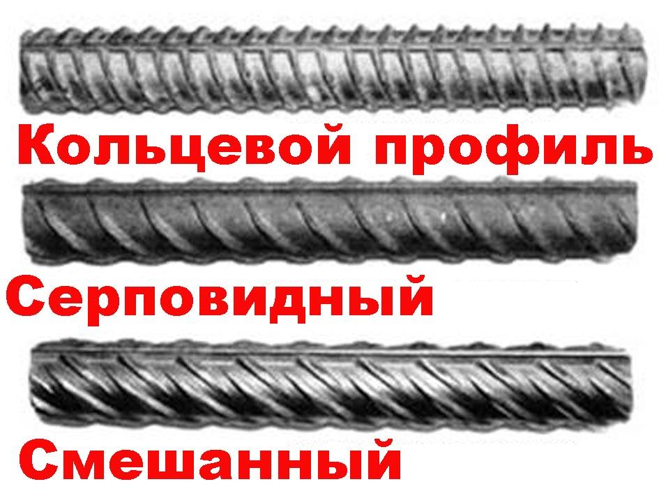 Применение арматуры с разным диаметром
